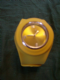Slap watch unisex in yellow large strap..